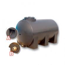 Δεξαμενη κυλινδρική οριζόντια BAKOPLAST 420 lt (001)