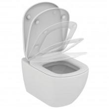 Λεκάνη κρεμαστή IDEAL STANDARD TESI II AQUABLADE με απλό κάθισμα T007901+T352801 53,5 cm