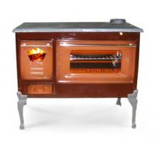 Σόμπα ξύλου εμαγιέ με φούρνο NTONTOS No 151M 8 kW