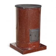 Σόμπα ξύλου εμαγιέ στρογγυλή NTONTOS No 800 14 kW
