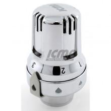 Θερμοστατική κεφαλή χρωμέ ICMA ART 993 με αισθητήρα κεριού