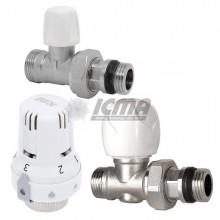 Θερμοστατικό κιτ δισωληνίου ICMA ART E με ίσιους διακόπτες