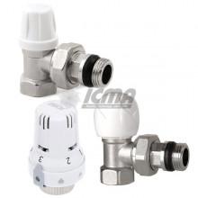 Θερμοστατικό κιτ δισωληνίου ICMA ART E με γωνιακούς διακόπτες